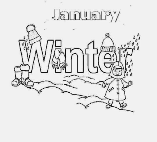 January Coloring Sheets