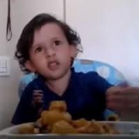 criança explica errado comer animais