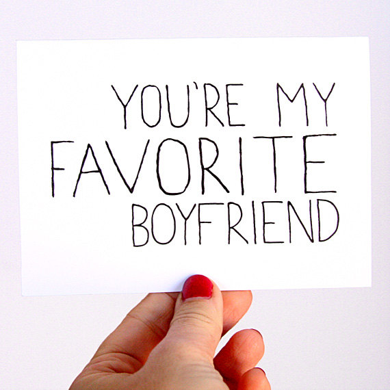 You're My Favorite Boyfriend Valentine's Day Card from Julie Ann Art