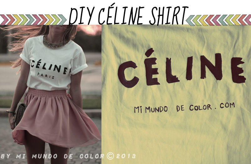 diy celine t-shirt
