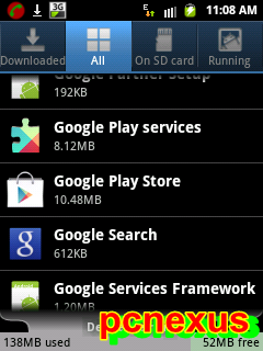 clear cache of google play store app