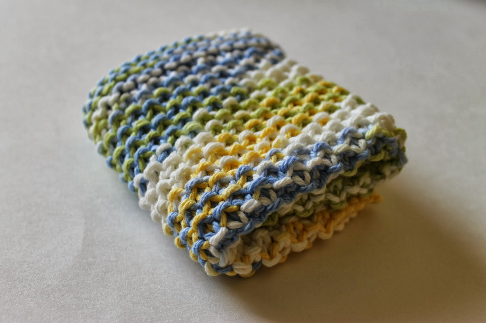 Stay@Home Stitchings: Simple Seed Stitch Dishcloth