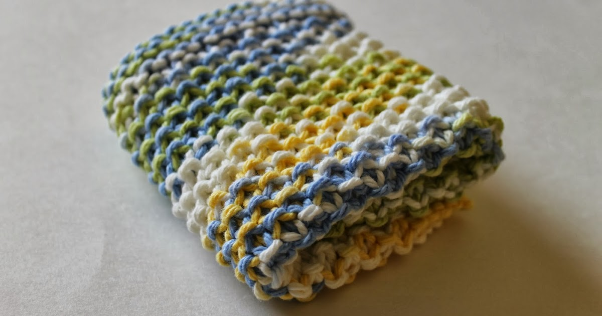Knitting Tips By Judy Seed Stitch : Stay@Home Stitchings: Simple Seed Stitch Dishcloth