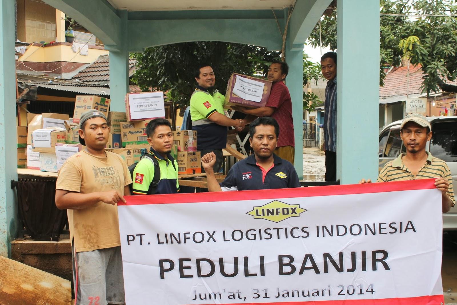serikat pekerja linfox peduli banjir