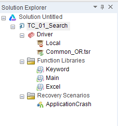 Solution Explorer in UF