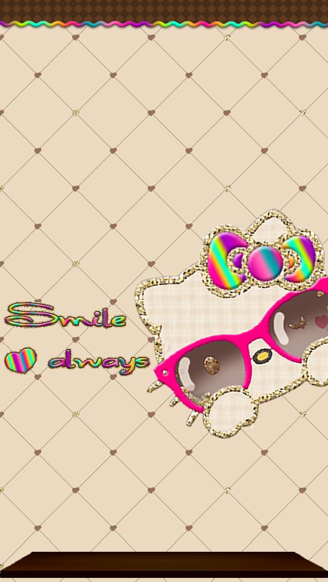 Love Pink Hellokitty Sunglasses Khaki Wallpaper Pack