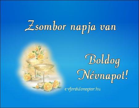 November 8 - Zsombor névnap