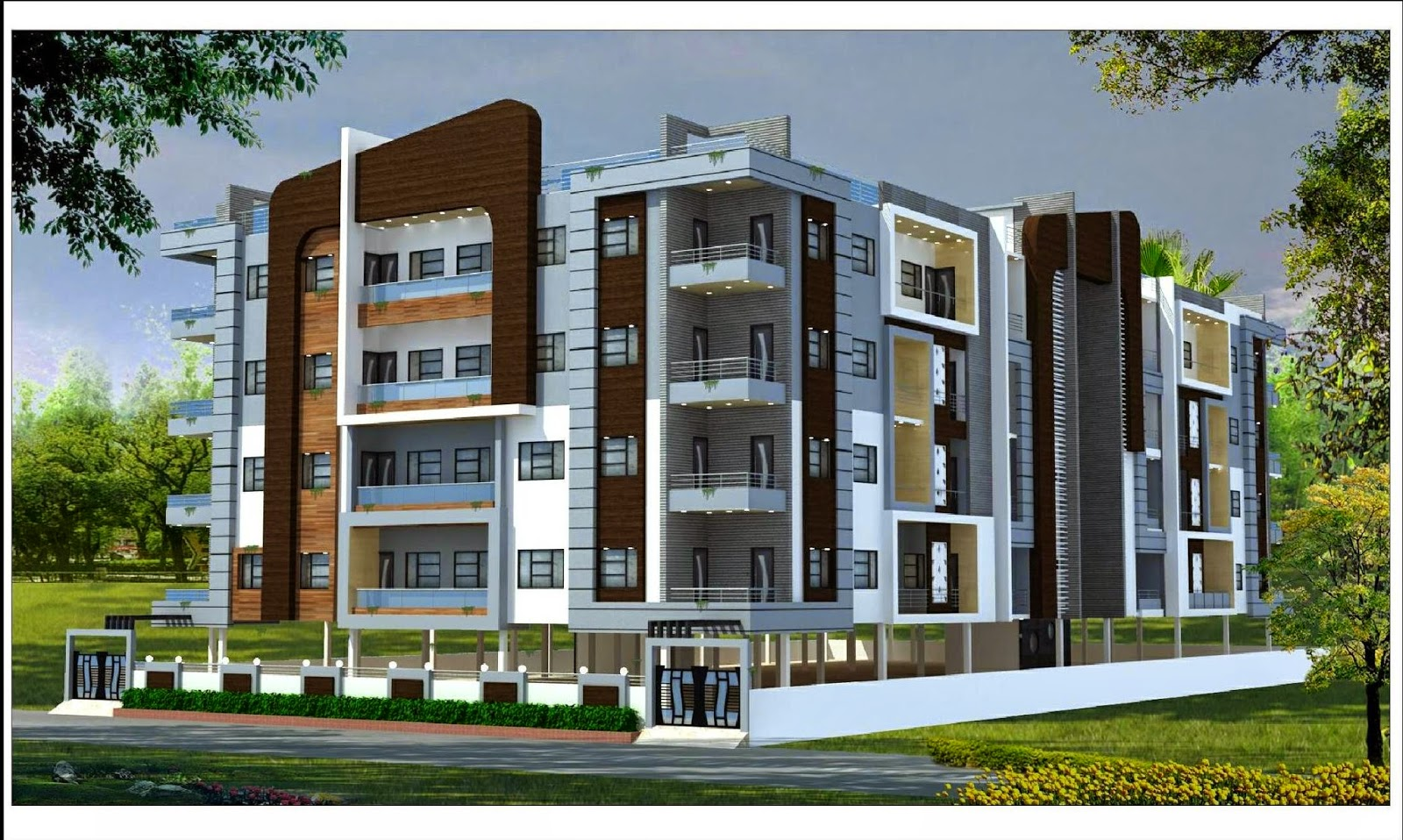 Residential building front elevation joy studio design for Best elevations residential buildings