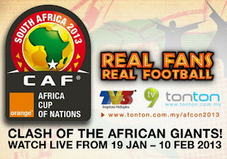 African Cup of Nation 2013 at Tonton.com.my