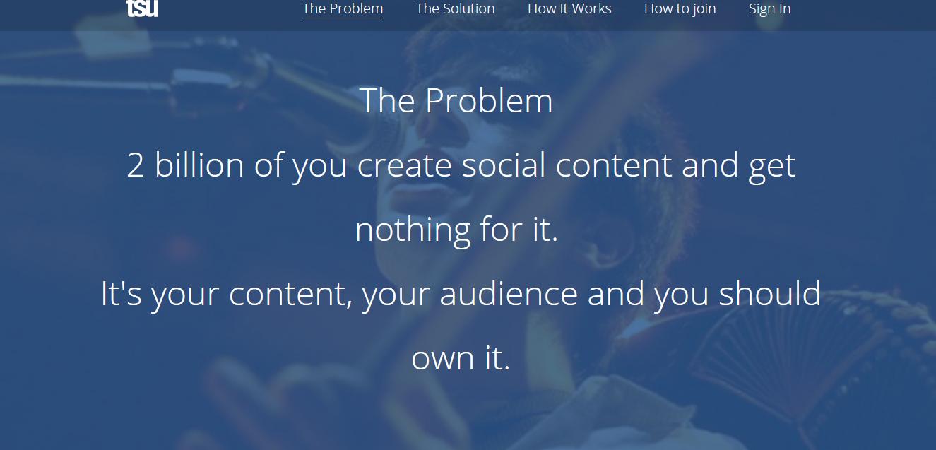 tsu, social network, earn money from social network