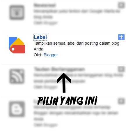cara menambahkan label blog