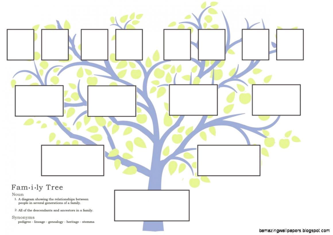 Family Tree Template   Rich image and wallpaper