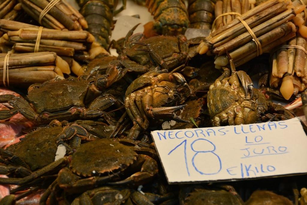 Mercado Central de Atarazanas Malaga crab