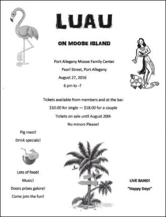 8-27 Luau Port Moose Family Center