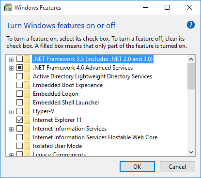 How to install .Net Framework 3.5 on Windows 10 and fix Error Code ...