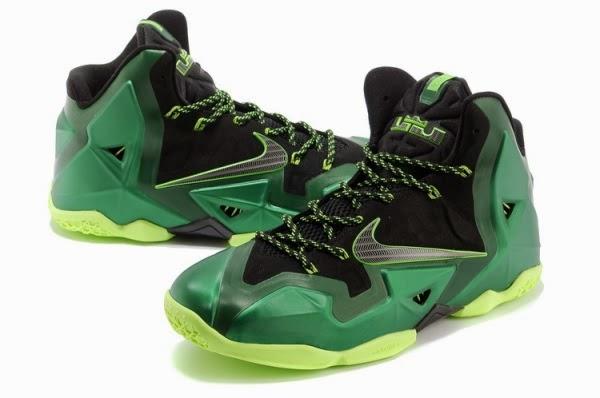Nike Air Max LeBron James 11 PS ELITE Dark GreenBlack Basketball