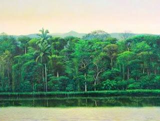Playas y Bosques en Pinturas Realistas