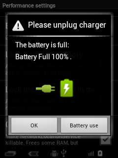 Battery Full Notification
