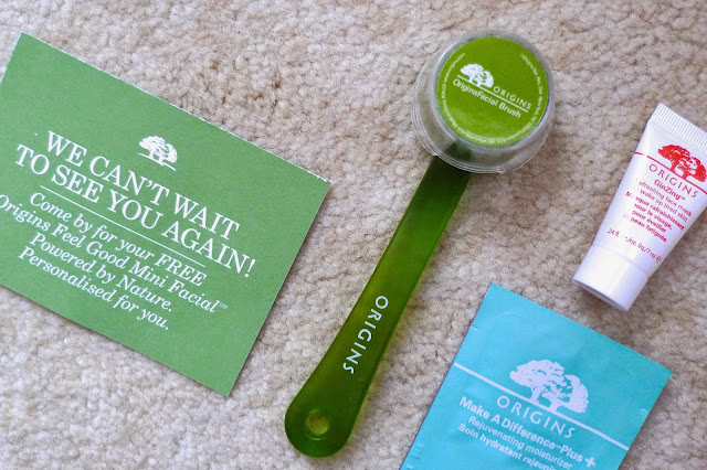 Origins Facial Brush exfoliator GInZing skincare samples Review