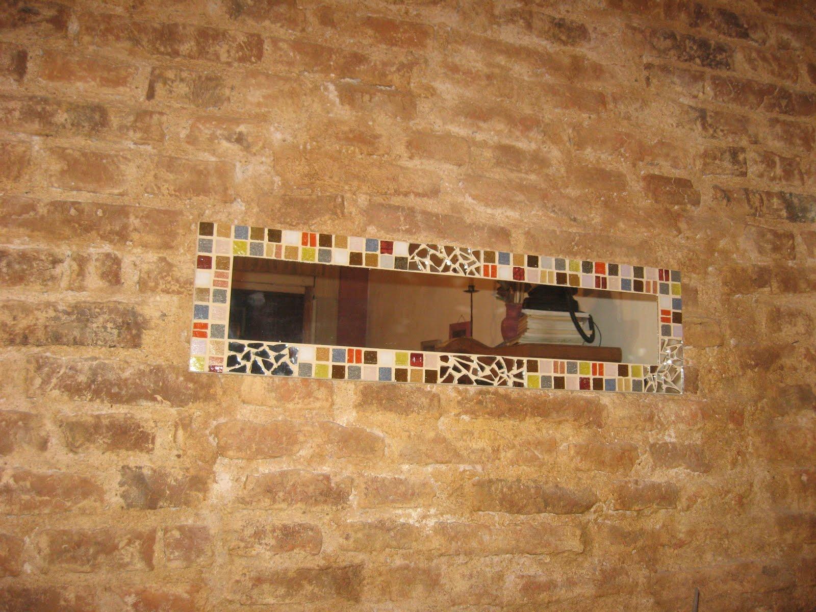 Espejos grandes de pared enmarcados con venecitas y vidrio for Espejos grandes de pared