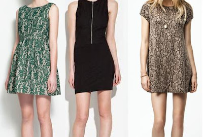 vestidos cortos y elegantes de zara 2012