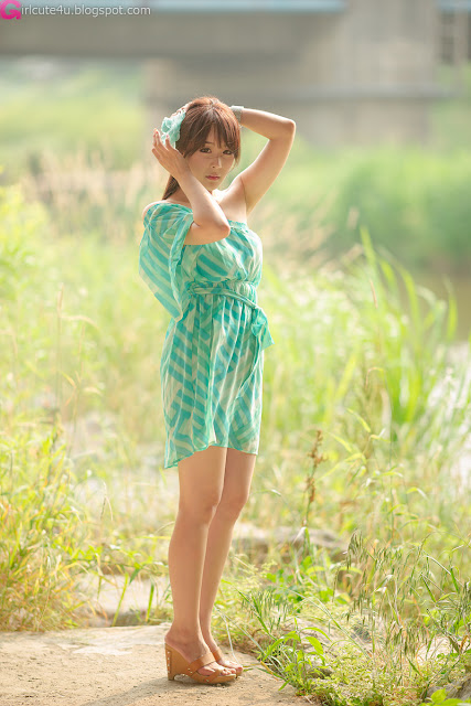 9 Kim Ji Min in Green-very cute asian girl-girlcute4u.blogspot.com