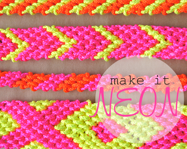 Omiyage Blogs: DIY: Neon Friendship Bracelets