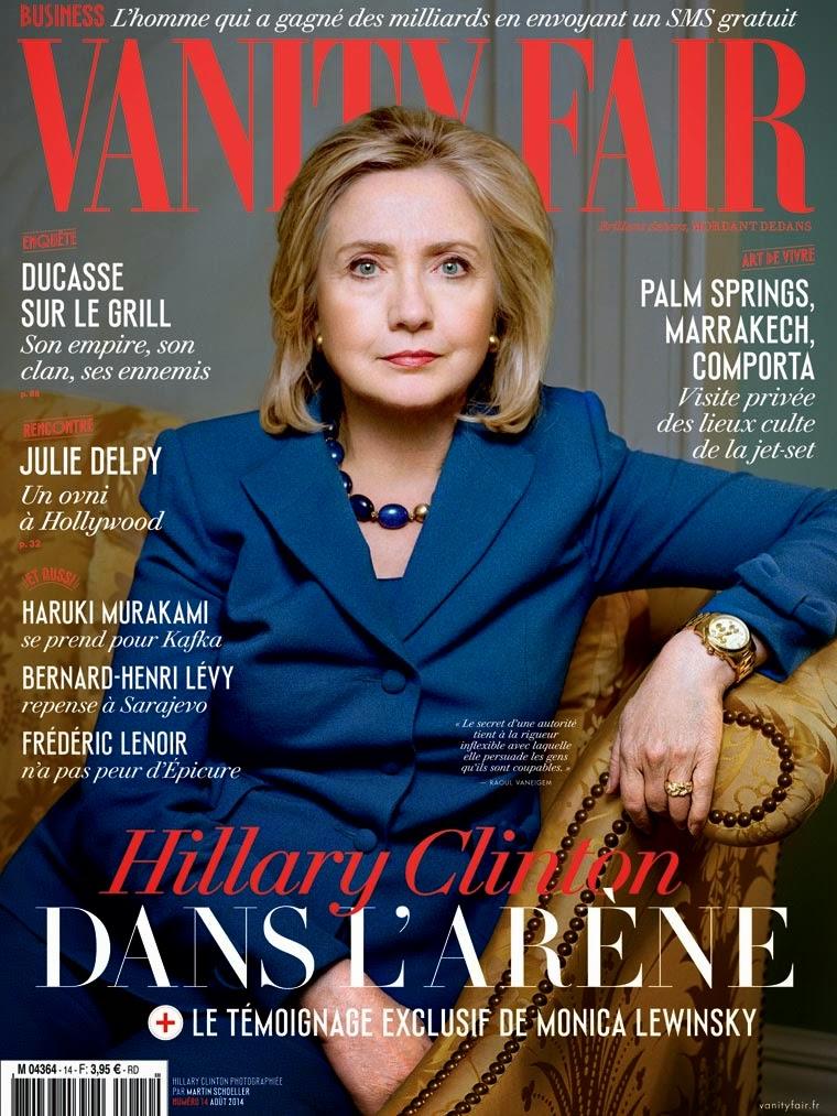 Hillary Clinton - Vanity Fair Magazine, France, August 2014