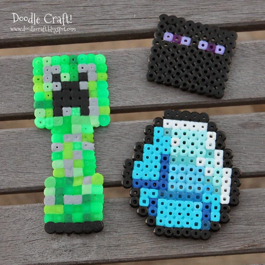 Doodlecraft minecraft perler beads for Minecraft crafts for kids