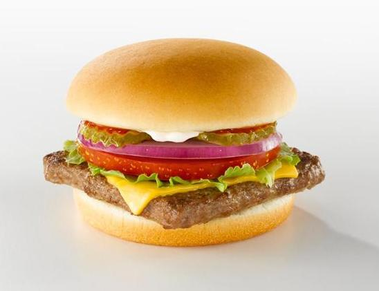 Nutritional value wendy's single hamburger