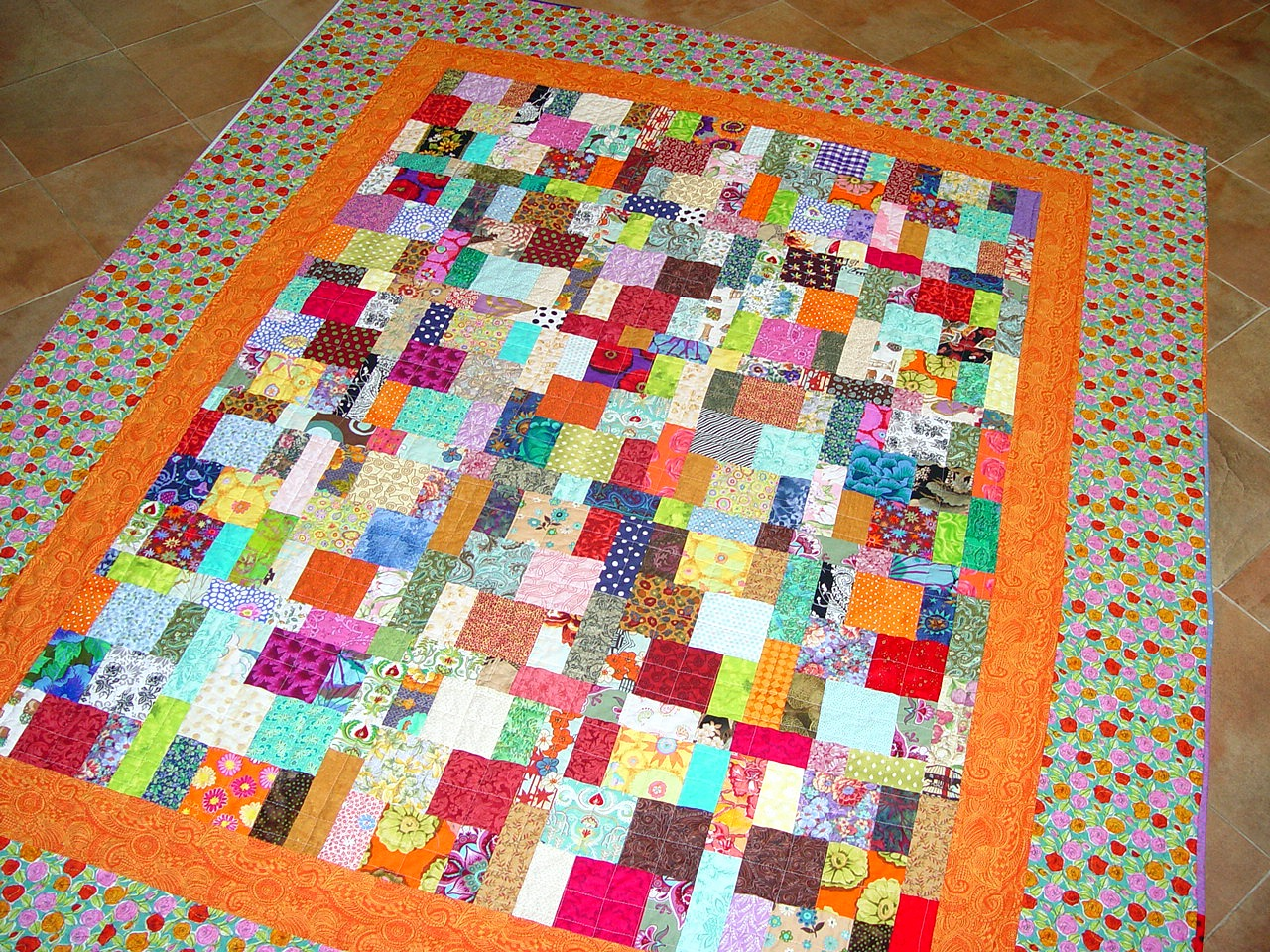 The quilting violinist finished scrap quilt for Scrap quilt