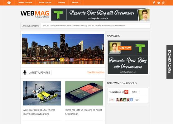 Webmag Blogger template