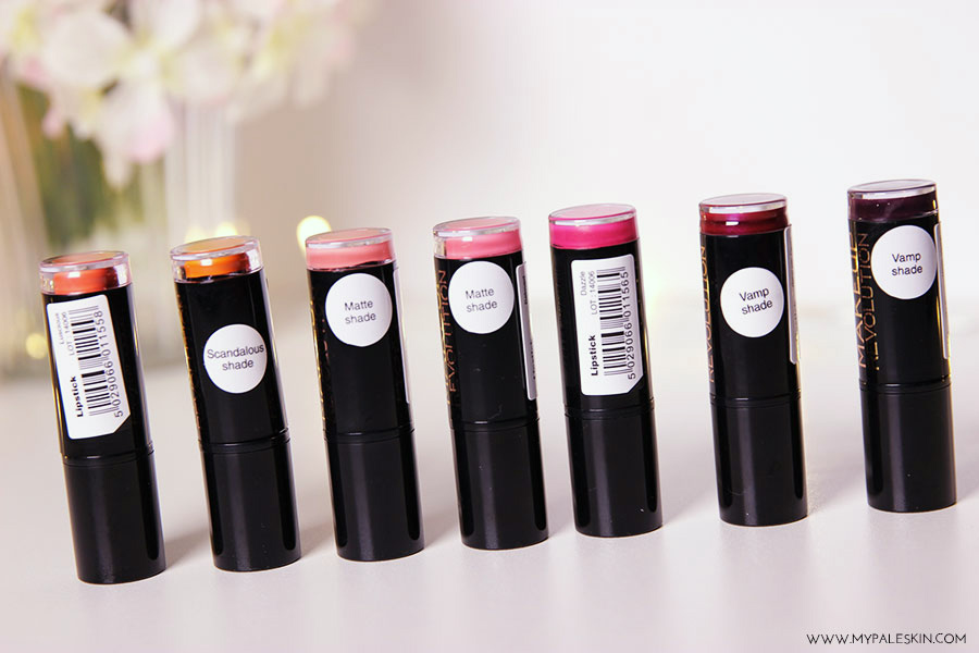 Make up revolution, lipstick, haul, my pale skin, beauty, matte lipstick,  swatch, review