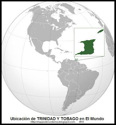 El Mundo. Ubicación de TRINIDAD Y TOBAGO en El Mundo, wikipedia