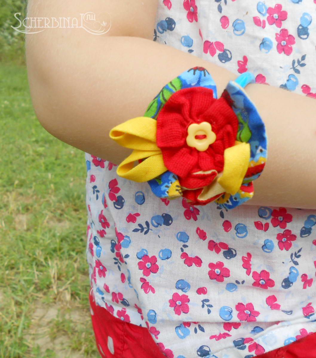 мягкая текстильная бижутерия для девочек