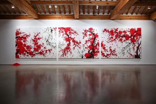 creative button installation by Ran Hwang