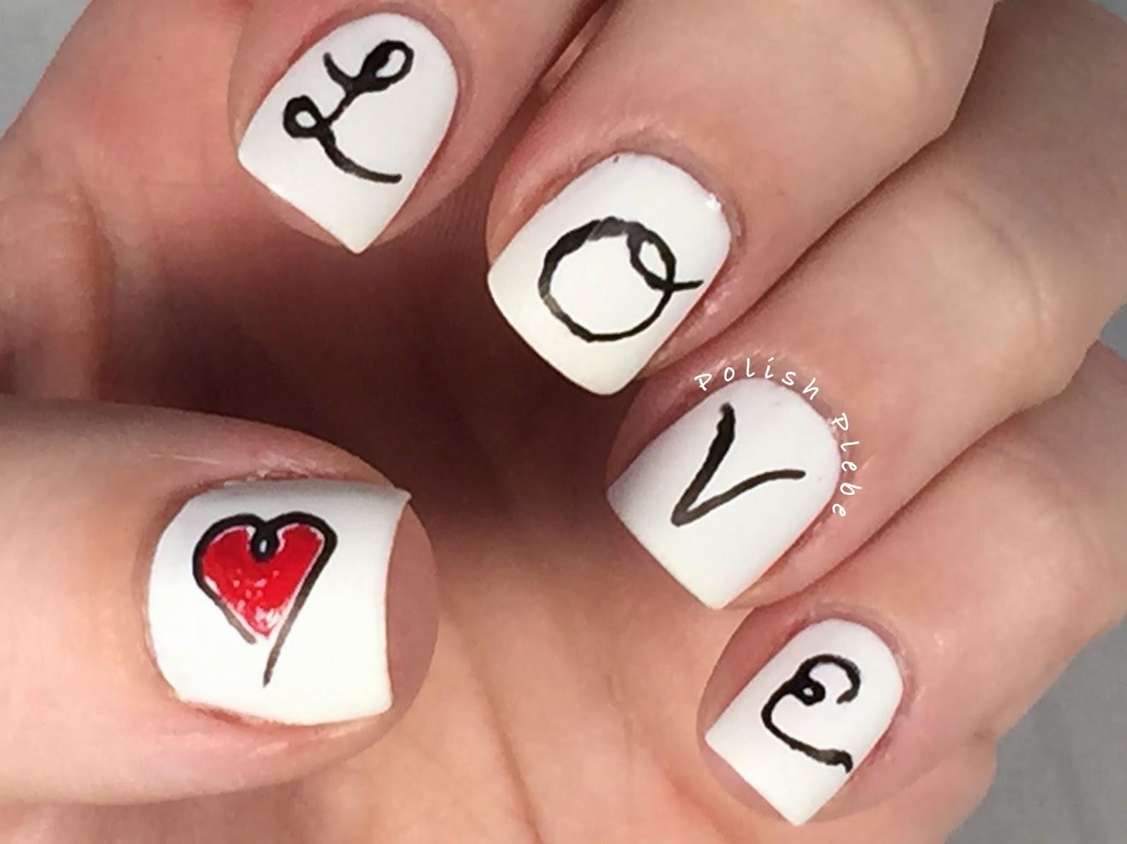 Nails Art Calligraphy Love Nail Art