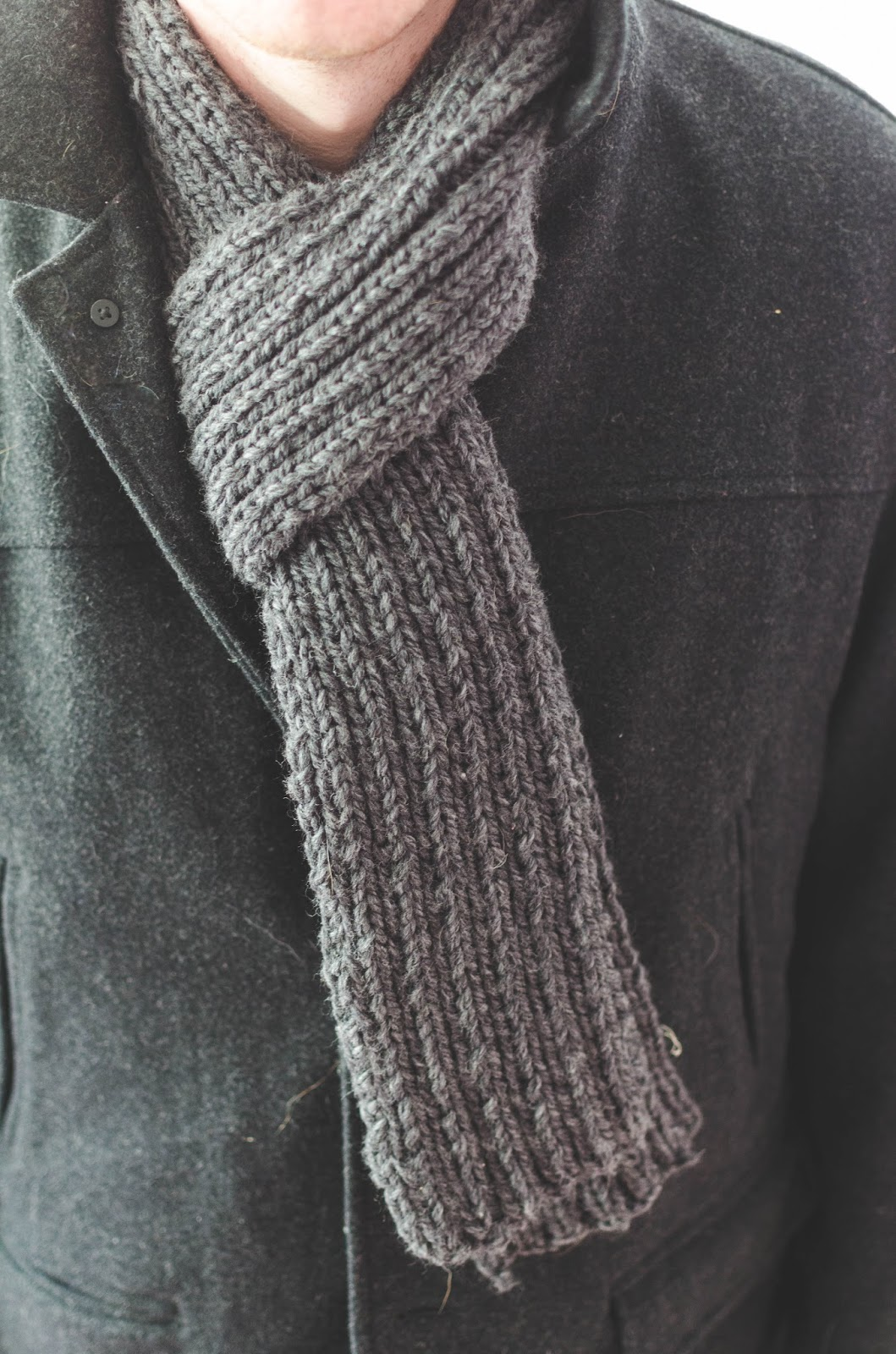 words & whisks: diy ribbed knit scarf
