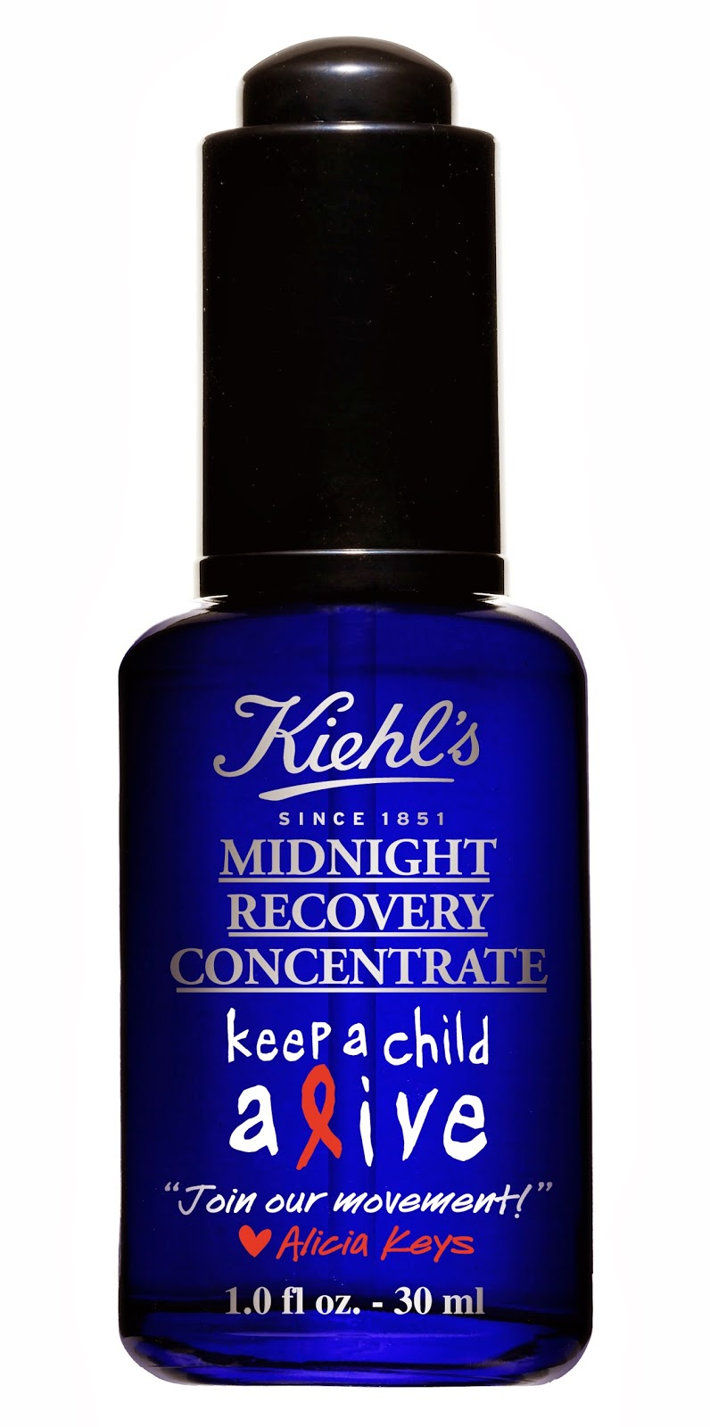 Keep a Child Alive, Alicia Keys, Kiehl's Midnight Recovery Concentrate Limited Edition
