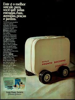 propaganda estojo Pronto Socorro Johnson - Johnson - 1973. 1973; os anos 70; propaganda na década de 70; Brazil in the 70s, história anos 70; Oswaldo Hernandez;