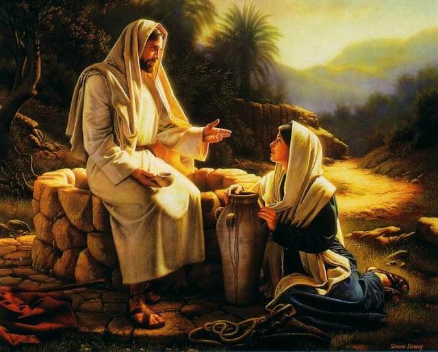 Jesus e a samaritana no poço de Jacó