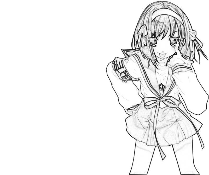 suzumiya-haruhi-look-coloring-pages