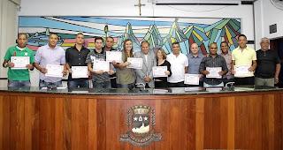 Formandos do Curso de Arbitragem de Futebol recebem certificado