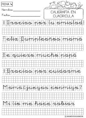 Minihogar kids - Como mejorar la caligrafia ...