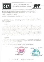 Remitimos al Comité de Empresa copia del informe de la Inspección de Trabajo sobre los reconocimien