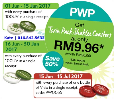 Twin Pack Shaklee Coasters