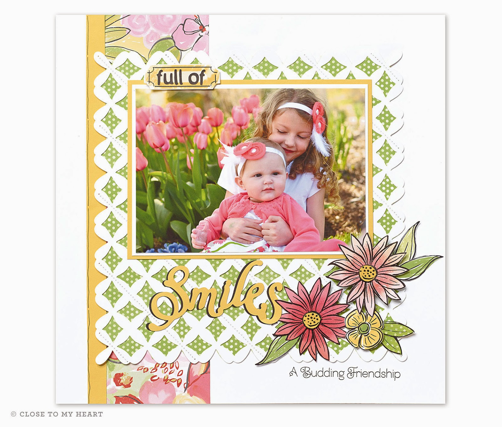 CTMH Brushed Scrapbook Layout