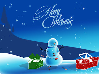 Merry Christmas snowman background wallpaper