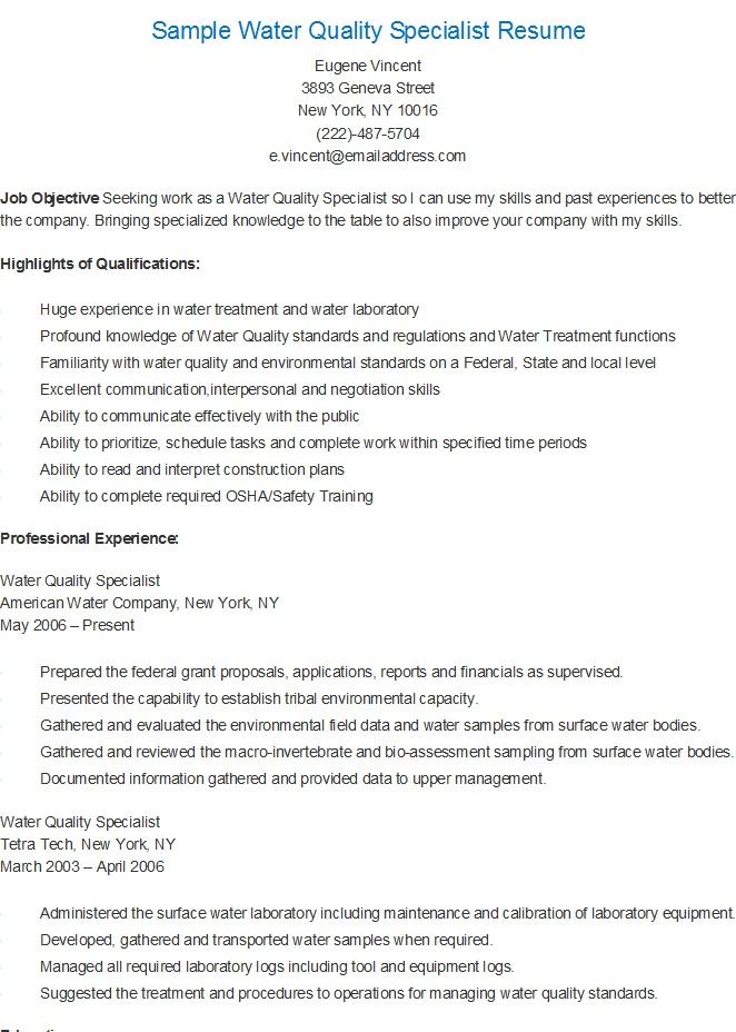 Presentation specialist resume