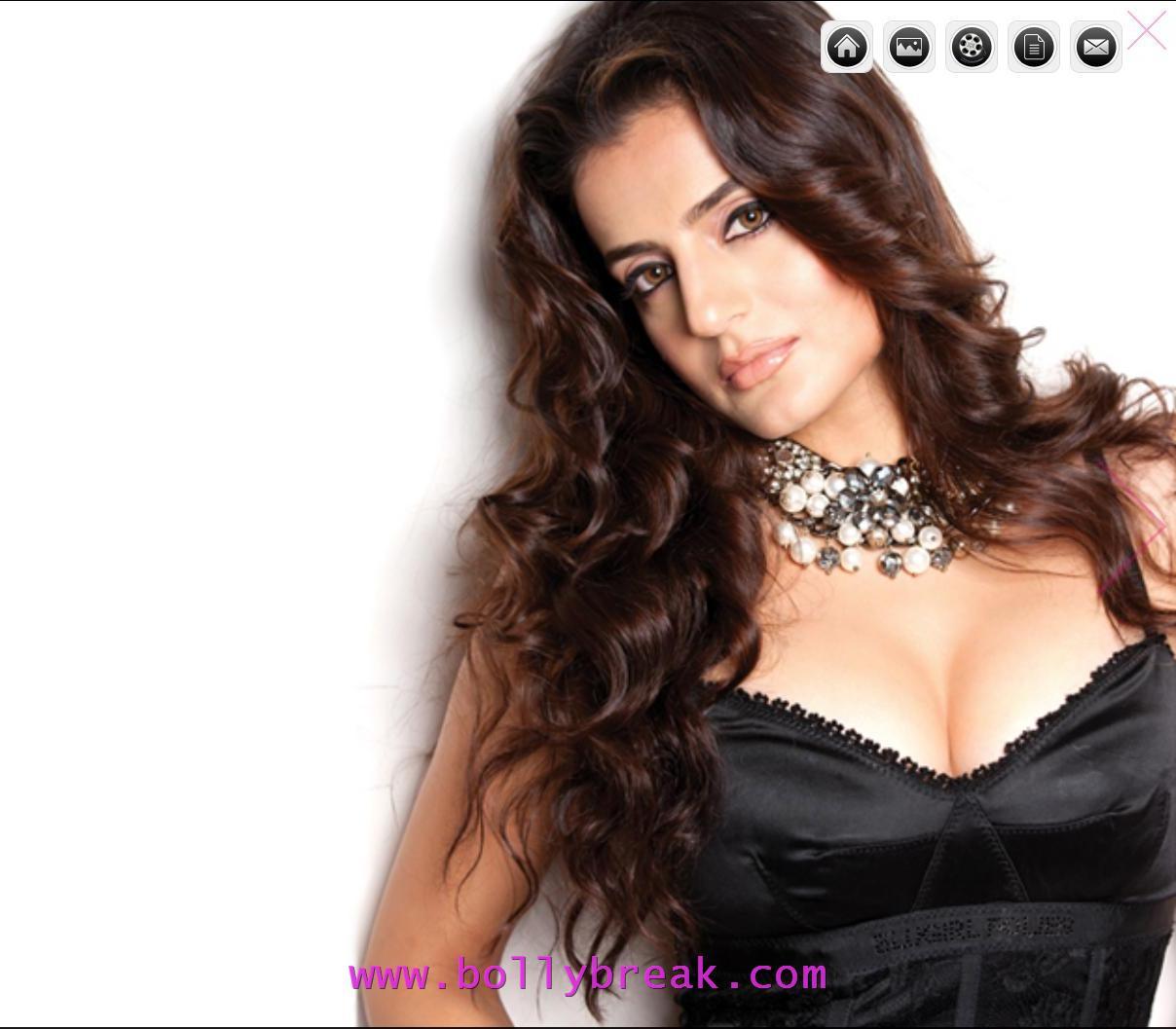 , Amisha Patel Pics In Black Nighty